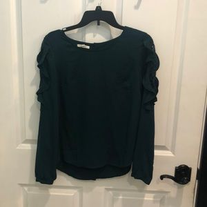 Deep green maurices blouse